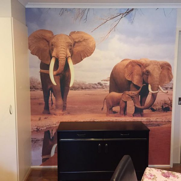 Elephants-1-600x600 Completed Projects | Wallpaper Prints